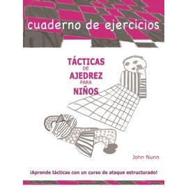 Cuaderno de ejercicios Tácticas de ajedrez para niños INICIACIÓN